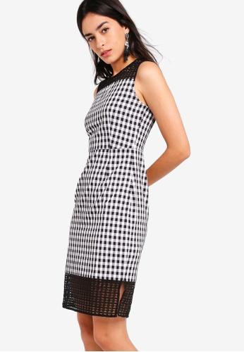 ZALORA multi Lace And Check Sheath Dress DA935AA1FB0A3BGS_1