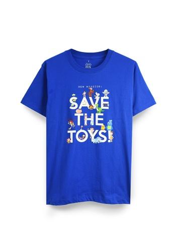 GOLDWOOD 藍色 迪士尼玩具总动员拯救玩具T恤 - 蓝色 1F317AA46583C6GS_1