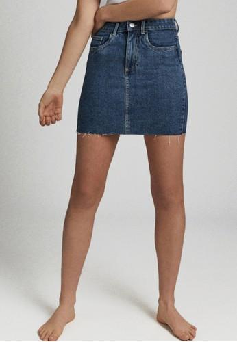 Cotton On blue Classic Stretch Denim Mini Skirt 79DEAAA97F73DDGS_1