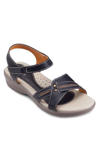 經典繞踝低楔esprit女裝形涼鞋, 女鞋, 鞋