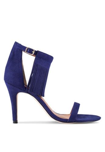 ZALORA 海軍藍色 Tassel 流蘇 高跟鞋 2FA5DZZ4138118GS_1