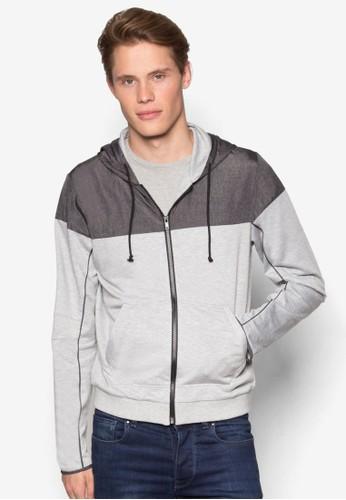 混合拼接連帽外套、 服飾、 外套ZALORA混合拼接連帽外套最新折價