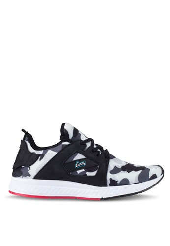 Louis Cuppers black and multi Camo Print Sneakers LO977SH0RF85MY_1