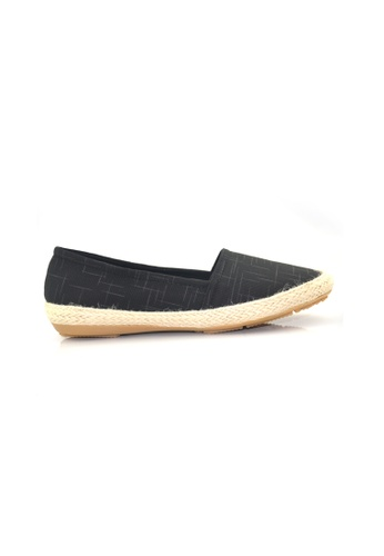 SHINE black Slip-On Canvas Casual Sneakers SH554SH0FDK5SG_1