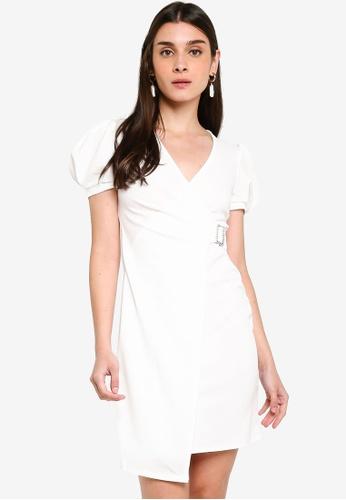 053489452 Buy River Island Liverpool Puff Wrap Dress Online   ZALORA Malaysia