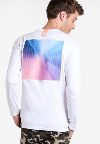 圓領長esprit bag袖衫, 服飾, T恤
