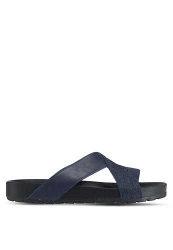 Bata blue Bata Crossover Strap Sandals 8E6DBSH6460C3AGS_1