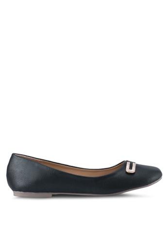 Spiffy black Casual Wear Flats SP352SH0SRXRMY_1