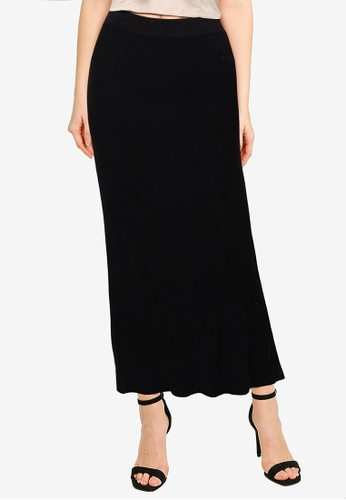Cotton On black Ultimate Knit Midi Skirt 2A371AA3A80D7CGS_1