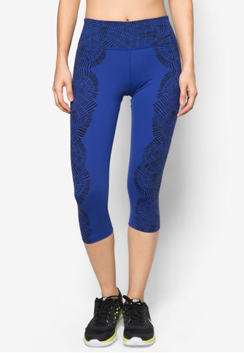 Nike black and blue Nike Legendary Tight Engineered Tidal Capris NI126AA53WLEMY_1