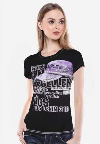 LGS black LGS - Slim Fit - Kaos Wanita - Hitam - Cap - Excellent. LG695AA69JLYID_1