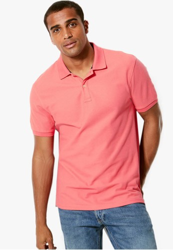 MARKS & SPENCER pink Pure Cotton Polo Shirt 0BFB5AAD6D5E6CGS_1