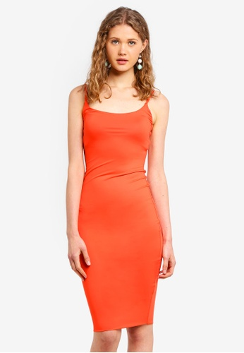 Supre orange Luxe Thin Strap Midi Dress F2F97AA1E3A412GS_1