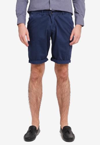 Electro Denim Lab 藍色 Printed Shorts EL966AA0SPC8MY_1