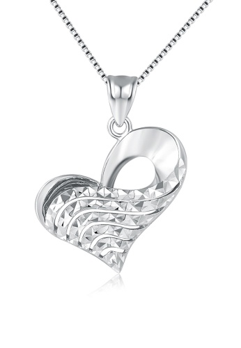 MaBelle silver 14K/585 White Color Gold Hearts Pendant Necklace 0CD20AC307EE0AGS_1