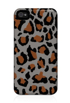 Funky Cheetah Print F Glossy Hard Case for iPhone 4,4s