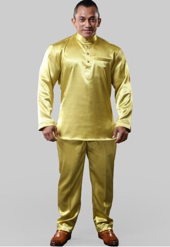 UA BOUTIQUE yellow Baju Melayu Mr. Universe UABMS01-091 (Yellow Mustard) 5D3AFAA9251BEDGS_1