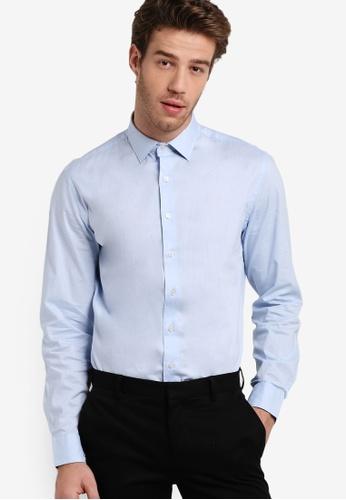 MANGO Man blue Slim-Fit Cotton Shirt MA449AA15XLGMY_1