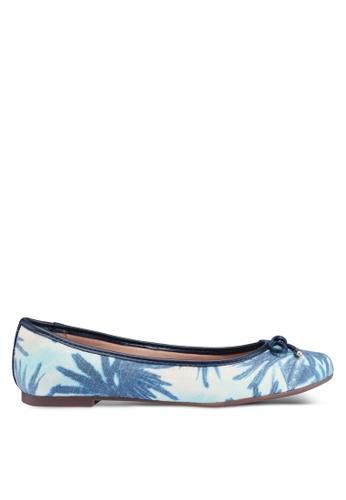 Anacapri 海軍藍色 熱帶蝴蝶結平底鞋 A4E3ASHFF41AC1GS_1