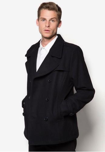 雙esprit 高雄排鈕羊毛外套, 服飾, 外套