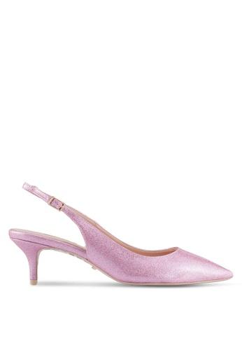 Dune London pink Sling Back Kitten Court Heels DF480SHC2D5FB5GS_1