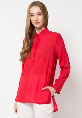 TRISET Ladies red Long Sleeve Blouse 158 TR970AA94ZQRID_1