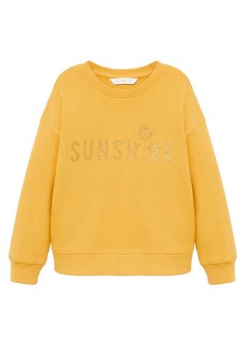 MANGO KIDS yellow Printed Organic Cotton Sweatshirt 6AE4DKA0C3DD78GS_1