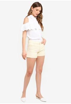 3a2d62d4b08d6 Dorothy Perkins Ivory Cold-Shoulder Shirt HK$ 300.00. Sizes 8 10 12 14 16