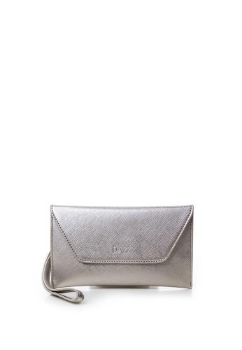 Dazz silver On the Go by Dazz Clutch - Metallic Silver DA408AC40XPFMY_1