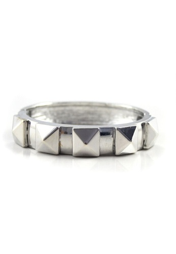 LEUPP silver Silver Pyramid Bangle TO983AC20DOTPH_1