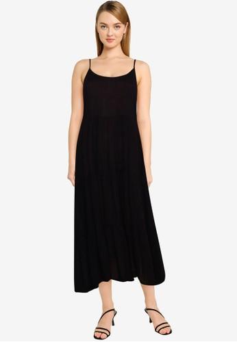 Vero Moda black Muti Midi Dress 9025AAAFD8A210GS_1