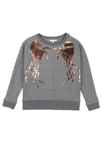 Chloé grey Chloé Sweatshirt with Chloé Horse Signature 96F5DKACF854B9GS_1