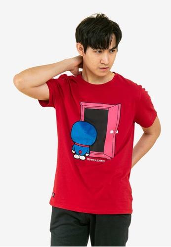 FOREST red Forest X Doraemon Velvet Texture Round Neck Tee 8245DAA85F10D4GS_1