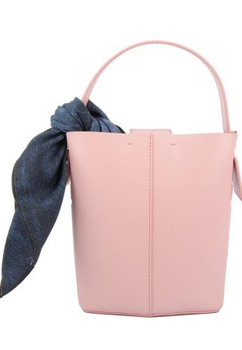 RO Bags pink RO Terranova Felucca Mini Top Handle Bucket Bag in Peach/Pink Sunset 42E58AC84C05ECGS_1