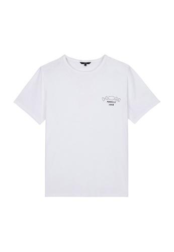 HOM white Victor T-Shirt Crew Neck - White 495E4AAC5A5C68GS_1
