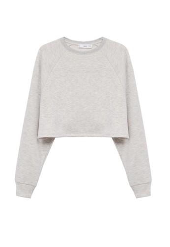 Mango grey Crop Sweatshirt B3656AAD55A502GS_1