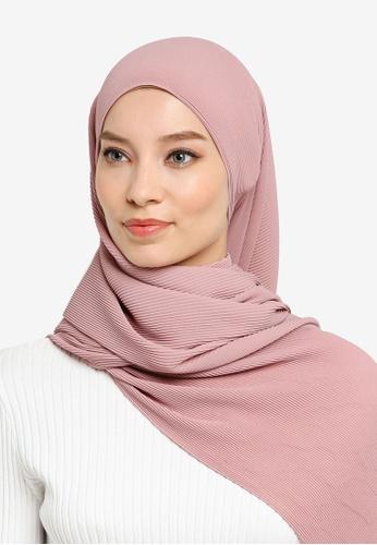 UMMA pink Yara Pleated Scarf in Tearose 0EADAAA5F67954GS_1