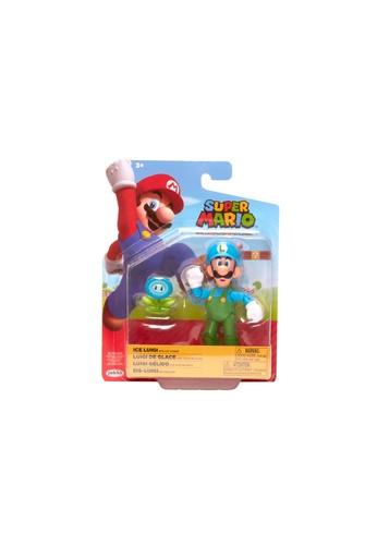 Kidmoro Nintendo Super Mario: W20 ICE LUIGI w/ ICE FLOWER Poseable 4-inch Figure with Accessories F726BES559E0AFGS_1