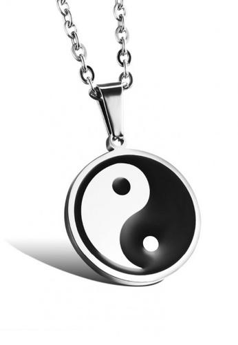 Sopistikada silver Yin Yang Logo 316L Stainless Steel Necklace A9880ACC0E9F13GS_1