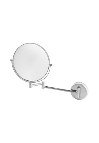 JVD JVD Lifestyle Fiesta Wall-Mounted Double-Side Mirror, 1 side with 3X magnification, Chrome finishing 03F92HL38E8C0FGS_1