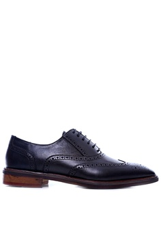 3bf344dc4bd2 Zeve Shoes black Zeve Shoes Oxford Brogue Wingtip - Black Leather Lace Up  F993FSHCCC7812GS 1