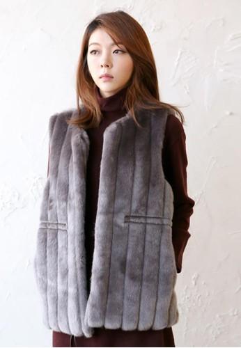 簡約esprit 中文仿皮草馬甲, 服飾, 夾克 & 大衣