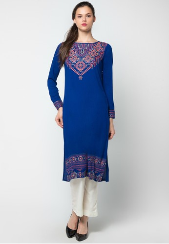 CHANIRA FESTIVE COLLECTION blue Rasee Printed Tunic CH354AA51BIYID_1
