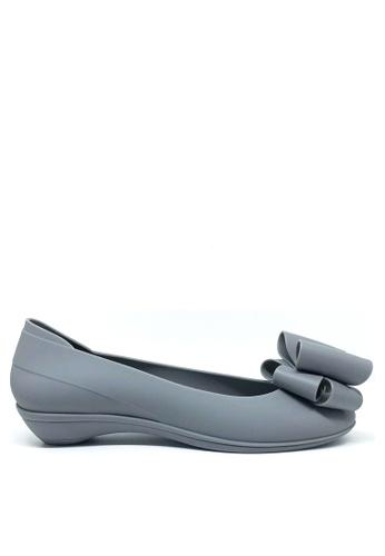 Twenty Eight Shoes 灰色 甜心蝴蝶結果凍膠小踭平底鞋 m071 EC7D9SH29CFBF3GS_1