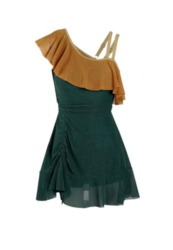 Its Me multi Retro Stitching Strap One-Piece Swimsuit 5FE9BUS388830FGS_1
