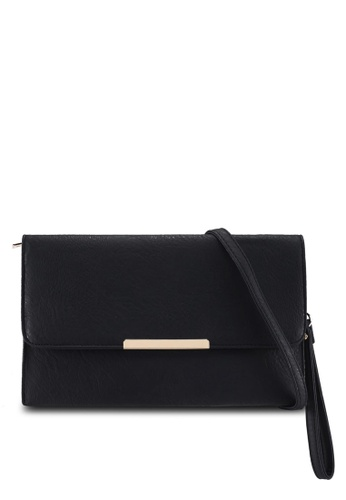 Perllini&Mel black Faux Leather Clutch Wristlet B2754ACBD127B8GS_1