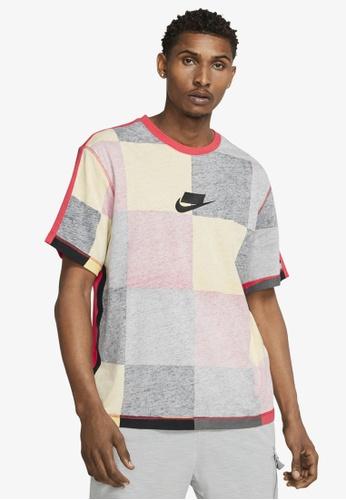 Nike red Men's Nike Sportswear Short-Sleeve Knit Top D4BA3AA0B70650GS_1