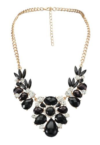Red's Revenge black Grand Gatsby Stones Bib Necklace RE144AC0SSTTMY_1