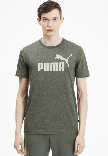 PUMA green Men's Heather T-Shirt F470AAA0B2DC09GS_1