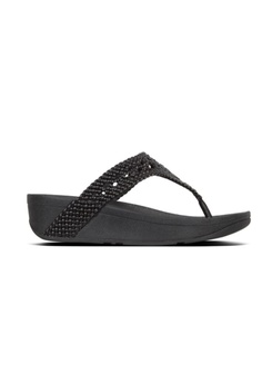 165a1b2b7b3 Fitflop black Fitflop Lottie Wicker Toe-Post Black A0450SH5146376GS 1